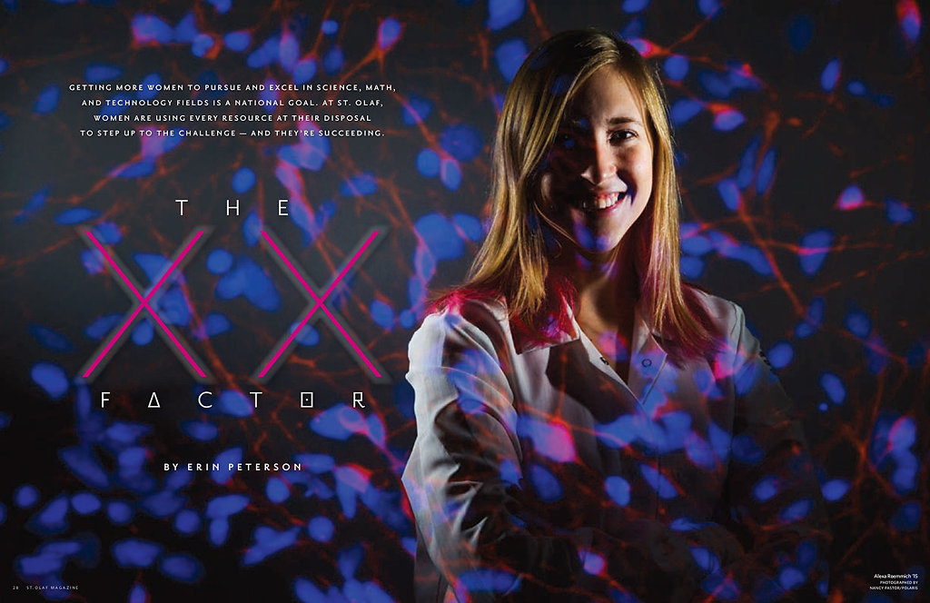 Women in Science for St. Olaf Magazine